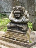 Ancient stone sculpture In the Balinese temple. Stock Photo