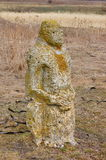 Ancient stone scythian idol. Royalty Free Stock Photo