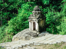 Ancient stone shrine Stock Images