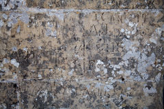 Ancient stone slab. With carved inscriptions stock photo