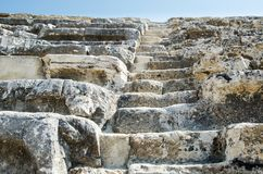 An ancient stone staircase. stock photography