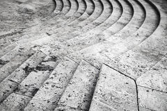 Ancient stone stairs on Piazza Di Spagna Stock Photo