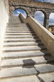 Ancient stone stairs to aqueduct Royalty Free Stock Photography
