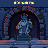 Ancient stone statue of king in the dungeon Royalty Free Stock Photos