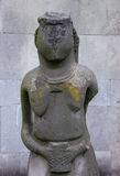 Ancient stone statue woman symbol. And gray stone background Royalty Free Stock Photos