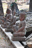 Ancient Stone statues at the Hindu temple of Banteay Srei Stock Image
