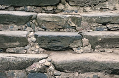 Ancient stone steps leading up Stock Image