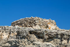 Ancient stone talayot at Menorca Royalty Free Stock Photos