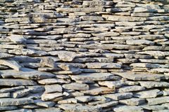 Ancient stone tiles. Ancient greek stone house tiles royalty free stock photo