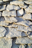 Ancient stone tiles. Ancient stone house tiles closeup Stock Images