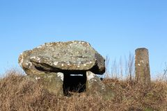 Ancient stone tomb in Denmark Royalty Free Stock Photo
