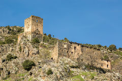 Ancient stone tower at Castifao in Corsica Stock Photography