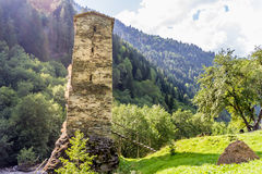 Ancient stone tower in Georgia, Stock Photos