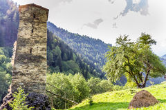 Ancient stone tower in Georgia, Royalty Free Stock Photography