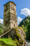 Ancient stone tower in Georgia, Royalty Free Stock Photos
