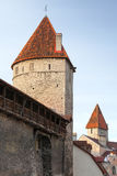 Ancient stone tower. Medieval Fortress in Tallinn Stock Image