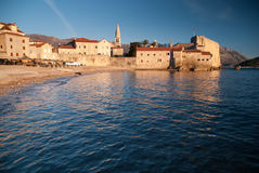 Ancient stone town by the sea Stock Images