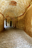 Ancient Stone Tunnel. Old stone tunnel in the Marienberg Fortress in Wurzburg, Germany Royalty Free Stock Images