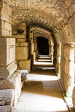 Ancient stone tunnel. Tunnel under theatre, Ephesus, Turkey Royalty Free Stock Photos