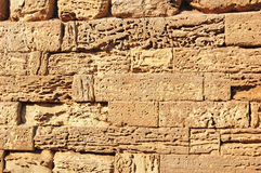 Ancient stone wall. From sandstone in Chersonese, Ukraine Stock Photography