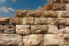 Ancient stone wall Stock Images