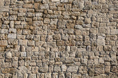 Ancient stone wall of the amphitheater Royalty Free Stock Photo
