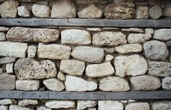 Ancient stone wall background Royalty Free Stock Photography
