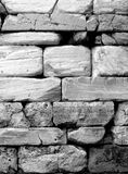 Ancient stone wall close-up. Stock Photography