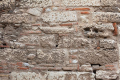 Ancient stone wall close-up. Royalty Free Stock Images
