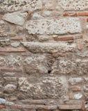 Ancient stone wall close-up. Royalty Free Stock Photos