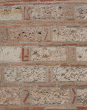 Ancient stone wall close-up. Royalty Free Stock Photo