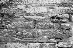 Ancient stone wall close-up. Royalty Free Stock Photography