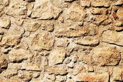 Ancient stone wall, detail Stock Photography