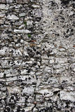Ancient stone wall, detail Stock Photo