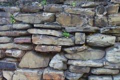 Ancient stone wall with large masonry. stock photo