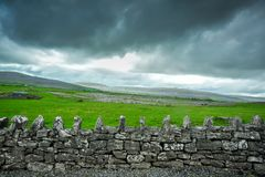 Ancient Stone Wall Stock Photo