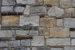 Ancient Stone Wall. Part of the ramparts in York, UK Stock Images