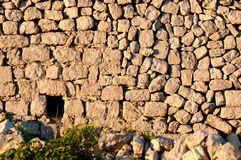Ancient stone wall ruins at Lubenice in Cres Royalty Free Stock Images