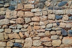 Ancient stone wall for a background Royalty Free Stock Images