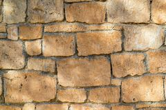 Ancient stone wall for a background closeup Stock Image
