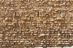 Ancient stone wall texture of the Kerak castle in Jordan Royalty Free Stock Images