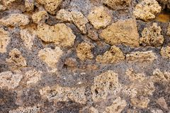 An ancient stone wall texture, from pompeii. An old ancient stone wall texture, from pompeii royalty free stock photography