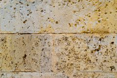 Ancient stone wall for a background Royalty Free Stock Photos