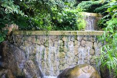 Ancient Stone Waterfall stock images