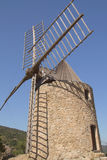 Ancient stone windmill (Vertically) Royalty Free Stock Photo