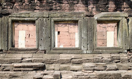 Ancient stone window Royalty Free Stock Image