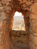 Ancient stone window Royalty Free Stock Image