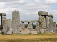 Ancient Stonehenge and Medieval Salisbury. This is one of the planet`s oldest world heritage Sites, Stonehenge which has been a place of pilgrimage for many stock photo