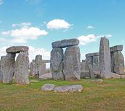 Ancient Stonehenge and Medieval Salisbury. This is one of the planet`s oldest world heritage Sites, Stonehenge which has been a place of pilgrimage for many stock images