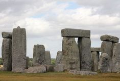 Ancient Stonehenge and Medieval Salisbury. This is one of the planet`s oldest world heritage Sites, Stonehenge which has been a place of pilgrimage for many stock photography